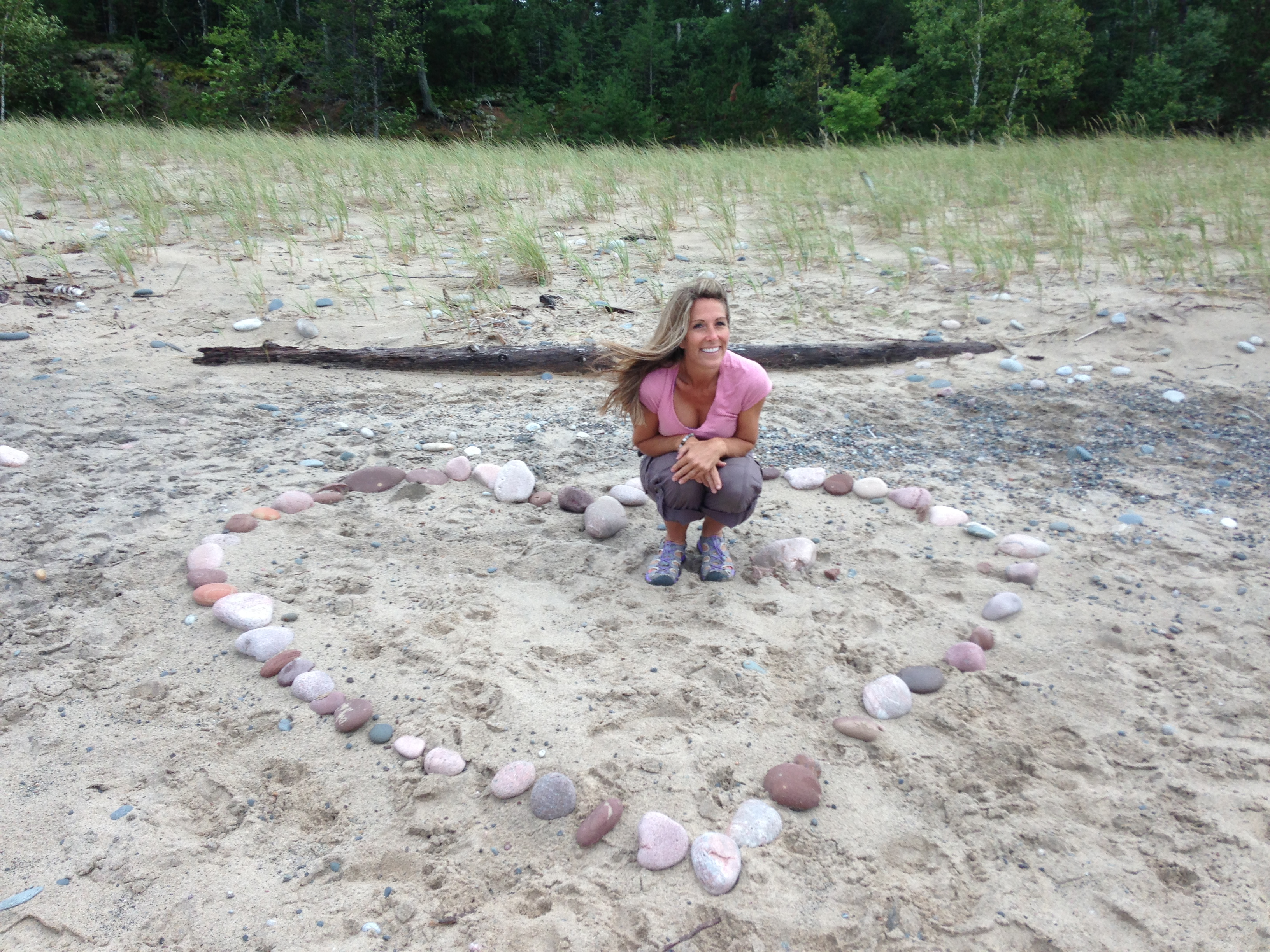 Blog pic Laurie Majka in a heart